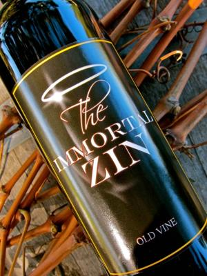 Peirano Estate's Immortal Zin flavored with notes of raspberry and cranberry