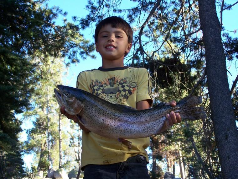 Ryan's big catch at Silverlake