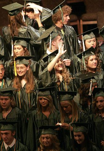 Jim Elliot High graduates 46 Eagles on Saturday at Lodi's Temple Baptist