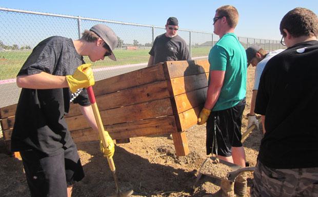 Liberty Ranch High School FFA gardens for good cause