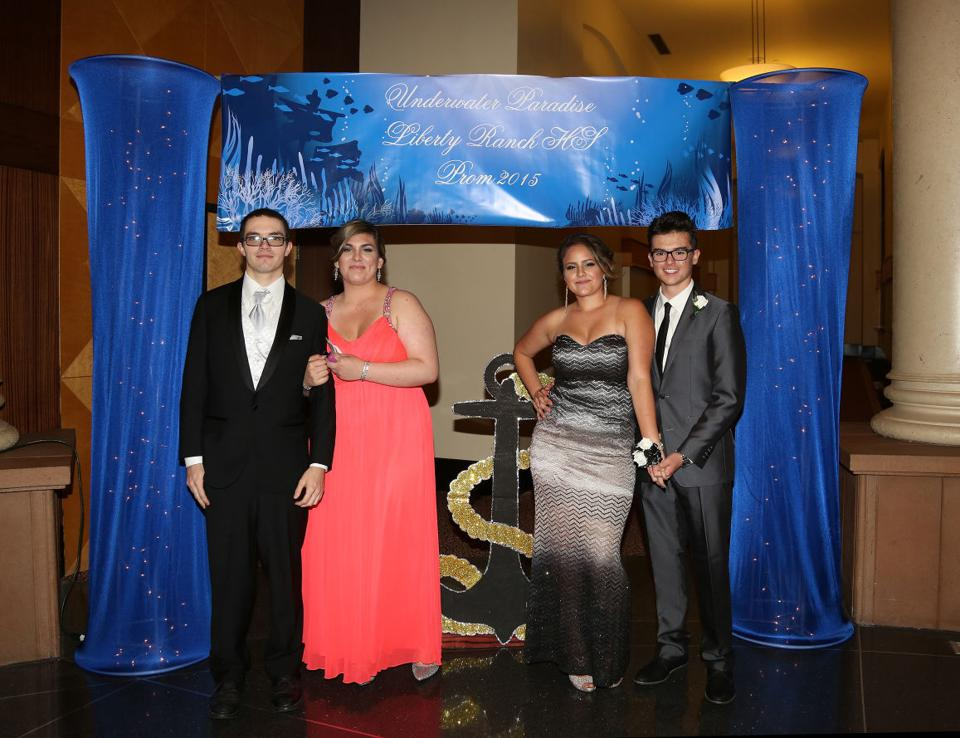 Galt's Liberty Ranch High School holds prom at Hutchins Street Square in Lodi