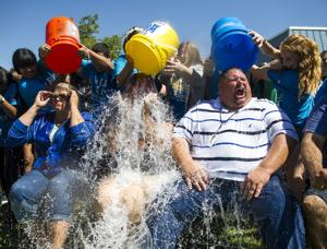 Lodi Middle School faculty takes the ALS Ice Bucket Challenge