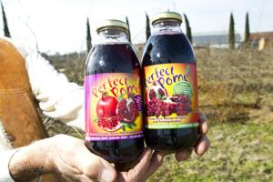 Local pomegranate juice pours into stores