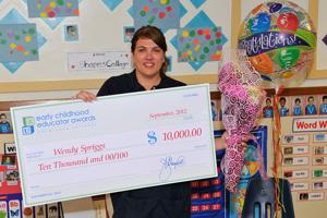 Acampo infant teacher Wendy Spriggs wins award — and $10,000