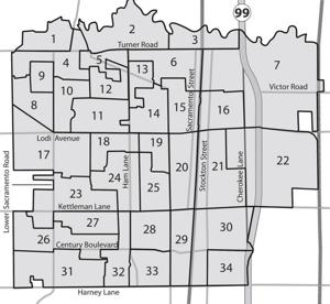 City of Lodi precinct map