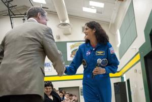 NASA astronaut Sunita Williams nudges Galt students to reach for the stars