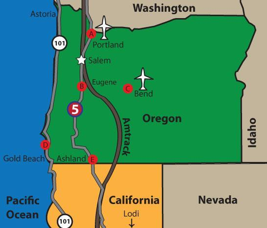 Your Lodi to Oregon connection