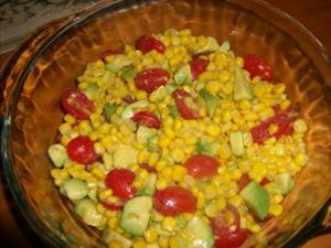 Mini tomato salad with a burst of color