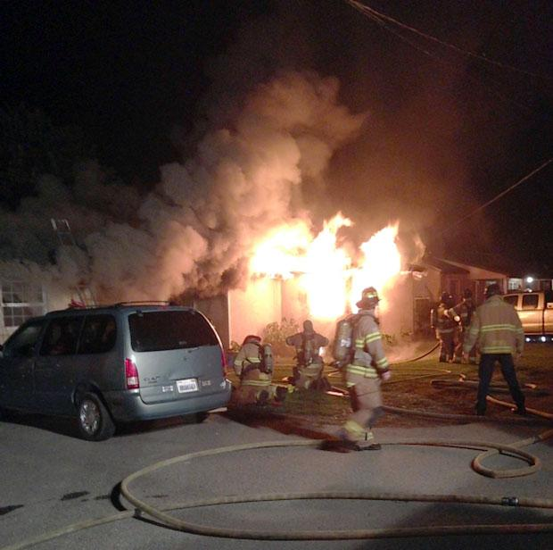 Residential fire on Lower Sacramento Road