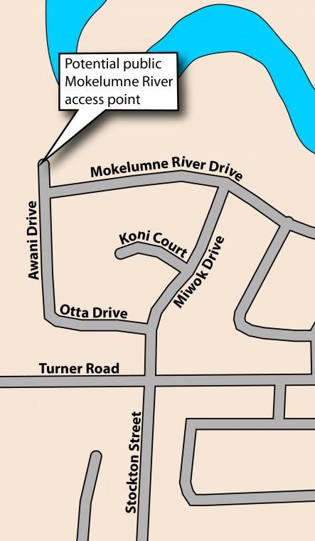 Lodi officials are considering adding another access point to Mokelumne River
