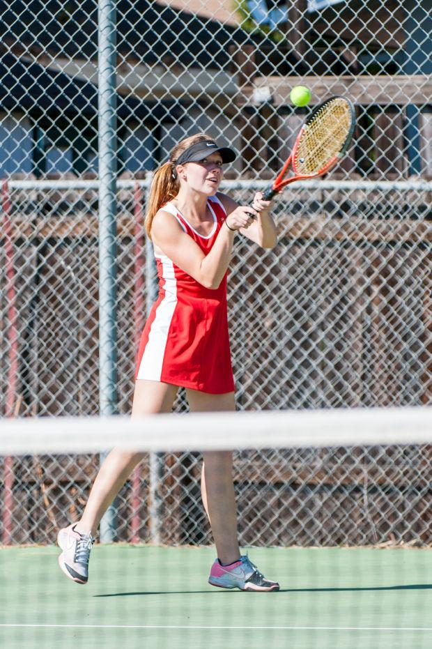Girls tennis: Flames denied in title tilt with Trojans