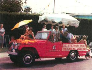 Lodi icon Jack Chappell's red Jeepster on display in Downtown store