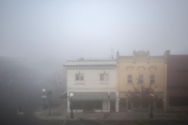 Fog rolls into Downtown Lodi