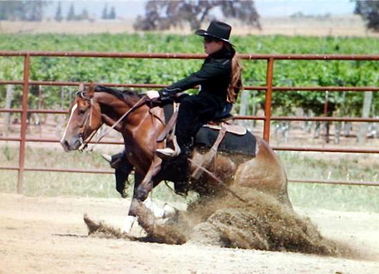 Me & my mare Maebe The Finest aka Maebe @ a reining show in '07