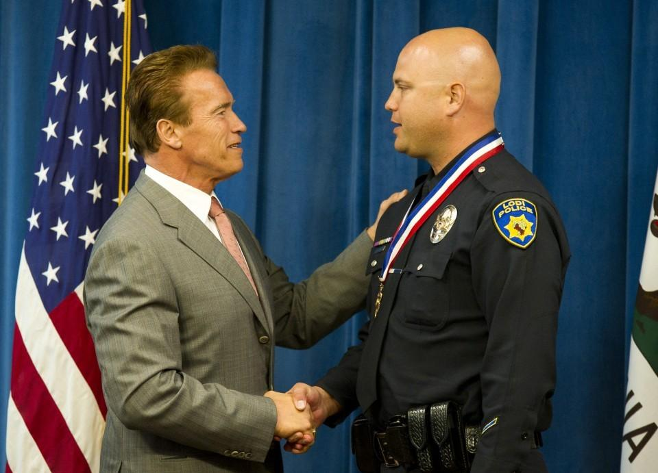 Lodi Detective Eric Bradley receives highest public safety award