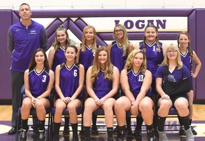 Logan eighth-grade volleyball team