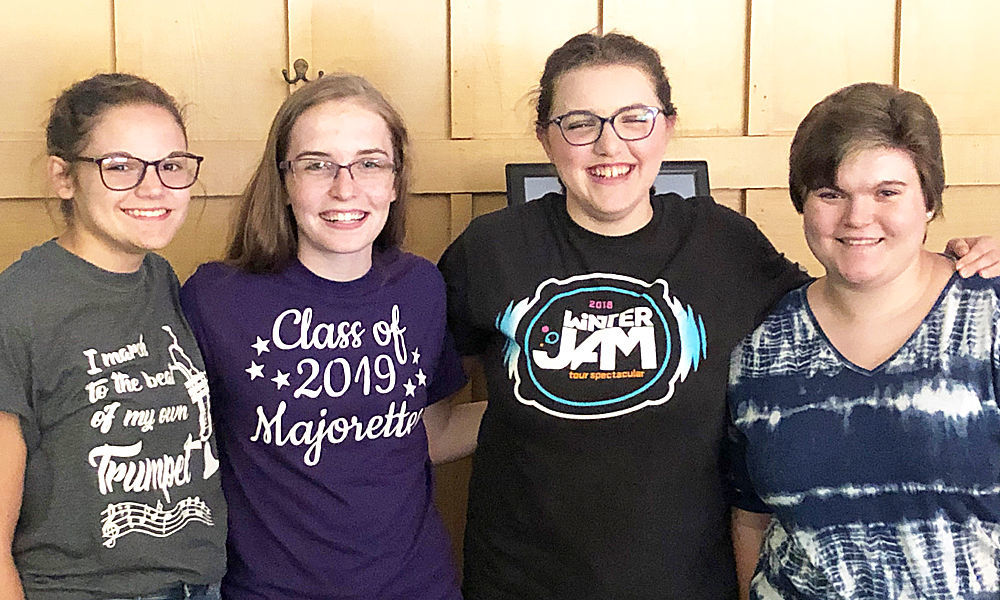 4-H elected officers for 2019/2020