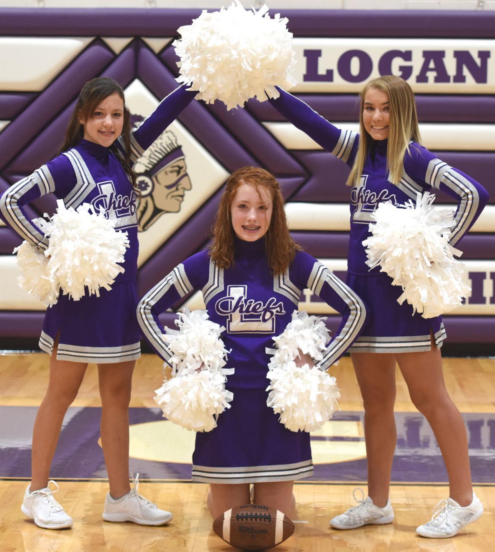 Freshman football cheerleaders