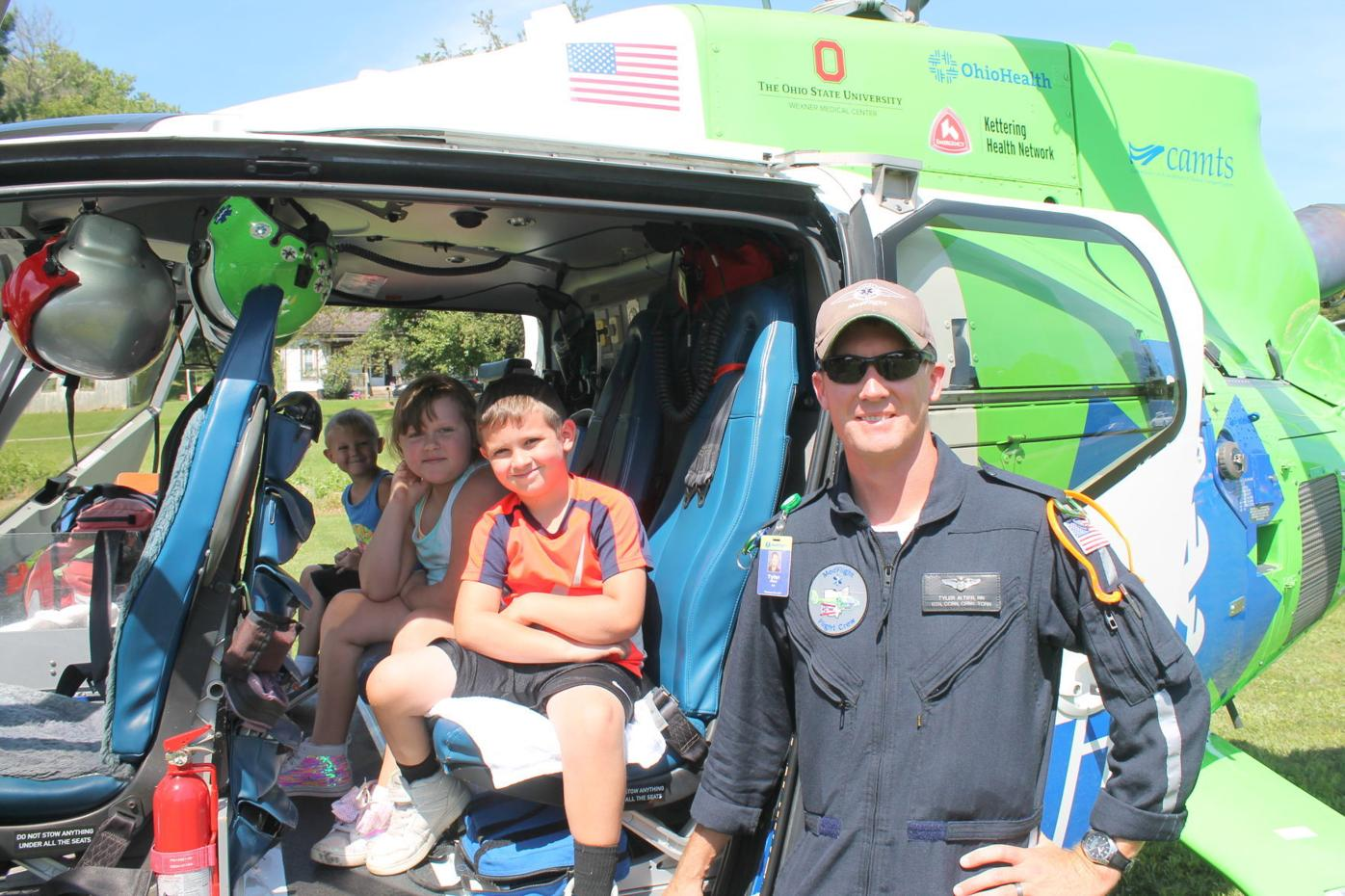 kids in medflight copter