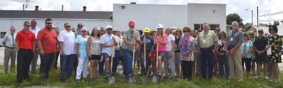 Groundbreaking of new hotel