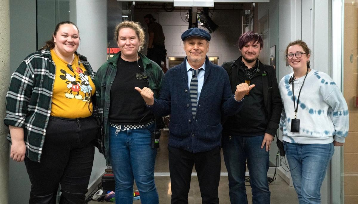 Hocking College students and Billy Crystal