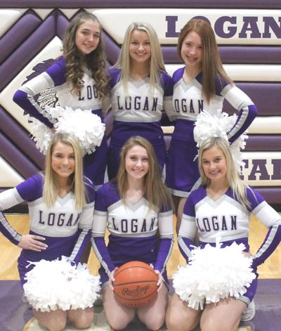 Logan freshman basketball cheerleaders