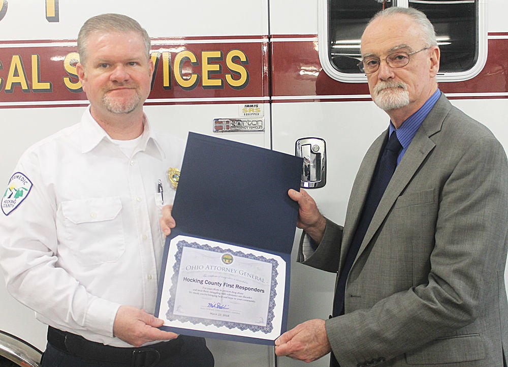 Representing Hocking County first responders