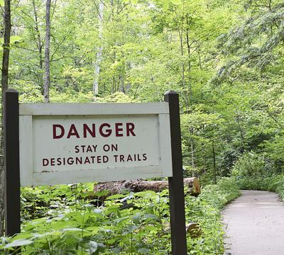 Stay on designated trails