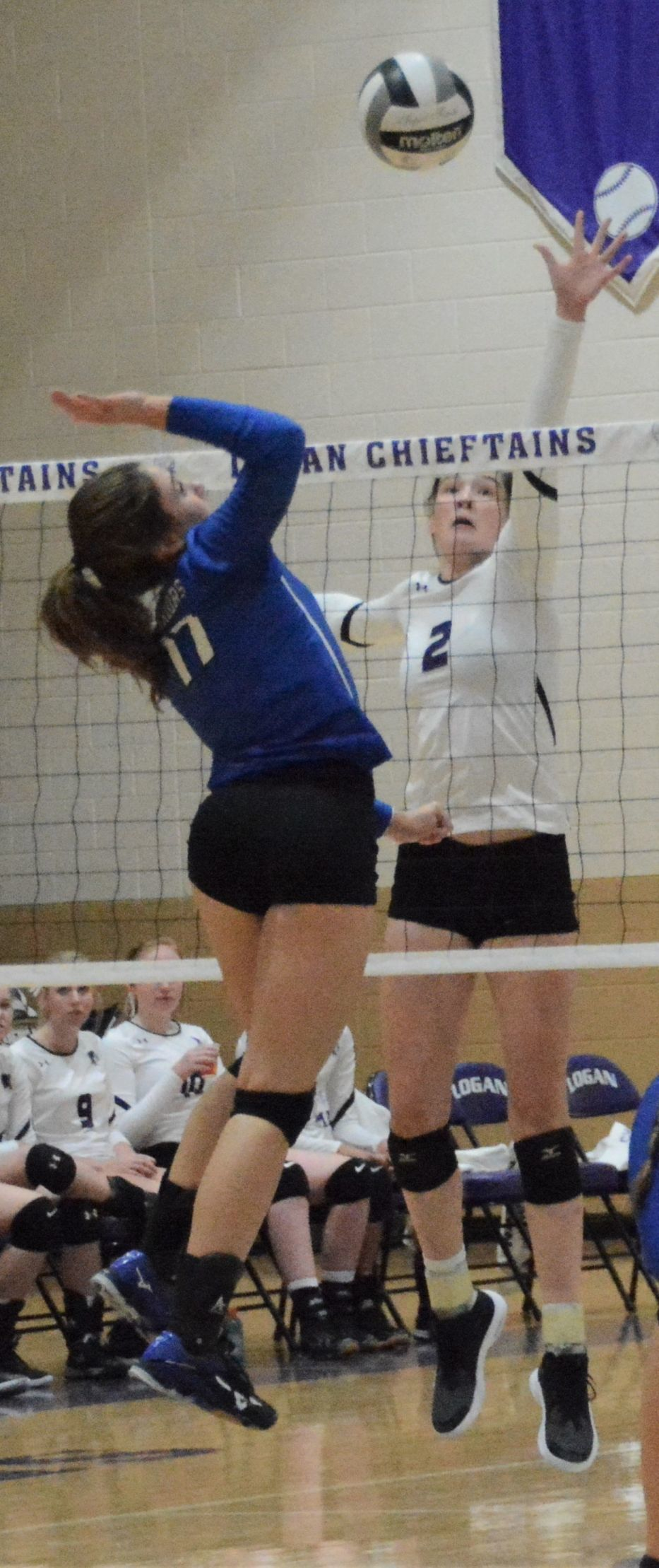 Rachel Pierce battles at the net