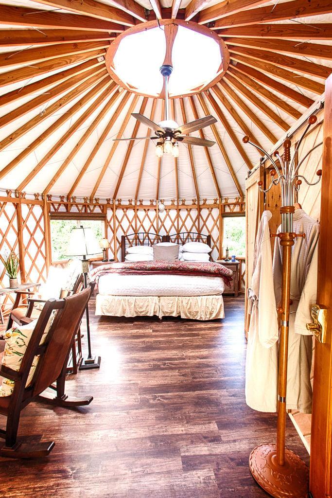 Yurts at Cedar Falls