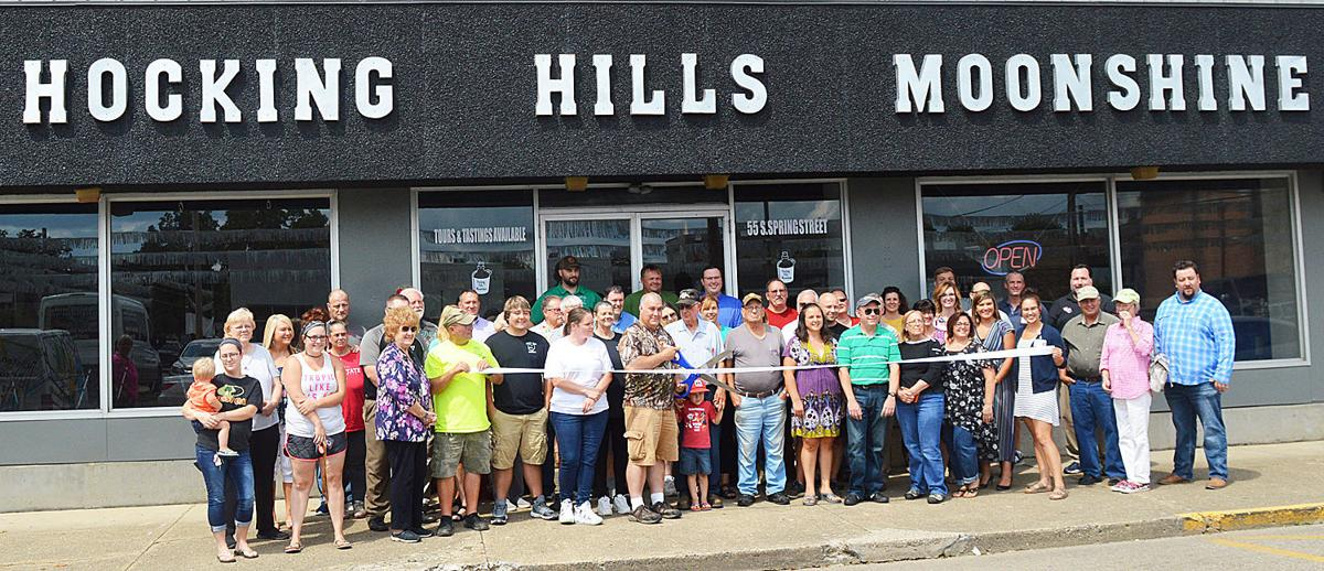 Hocking Hills Moonshine ribbon cutting
