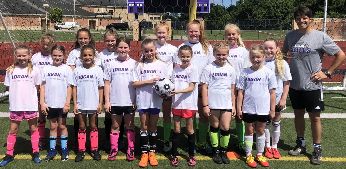 Girls soccer campers grades 3-6