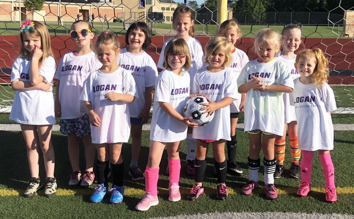 Girls soccer campers K-2