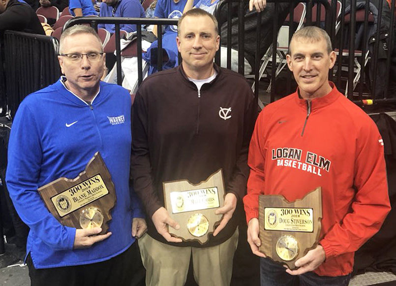 Coaches honored for winning 300 games