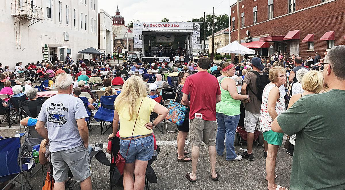 This is the scene from last year's Backyard BBQ in Downtown Logan. This  year's event is scheduled for Saturday, June 30 with Journey Tribute Band,  ... - Backyard BBQ Back For Another Year Of Food, Fun And Rocking Music