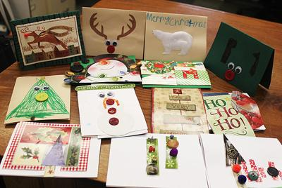 Students make cards for seniors