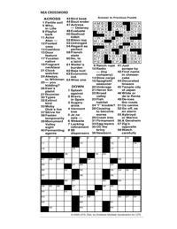 Crossword For June 17 Logandaily Com
