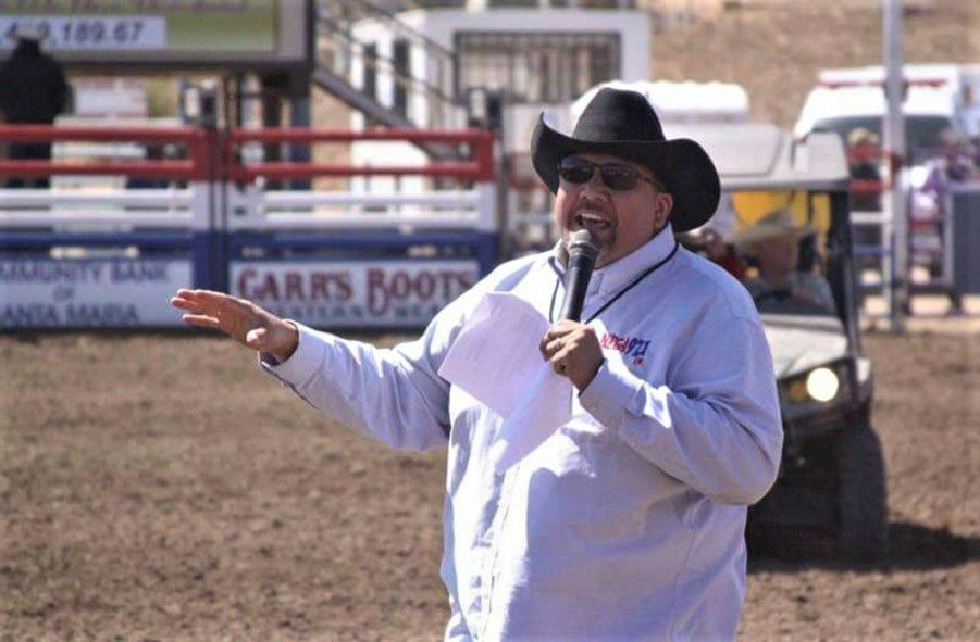 Tony Gonzales announcing at rodeo.jpg