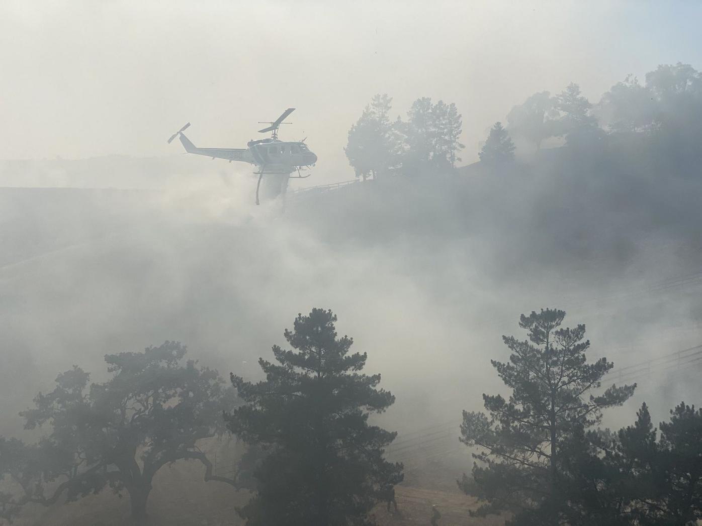 090621 Caballo fire helo in smoke.jpg