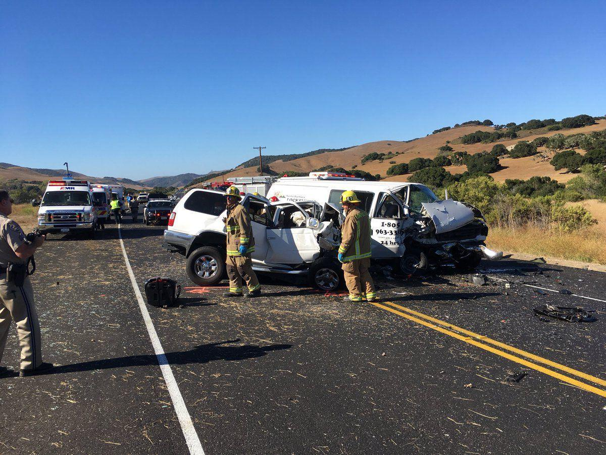 Fatal two-vehicle crash closes Hwy  1 south of Lompoc