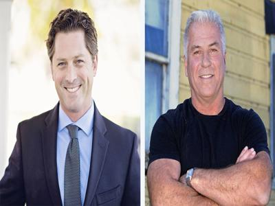 Jordan Cunningham (R) and Bill Ostrander (D)