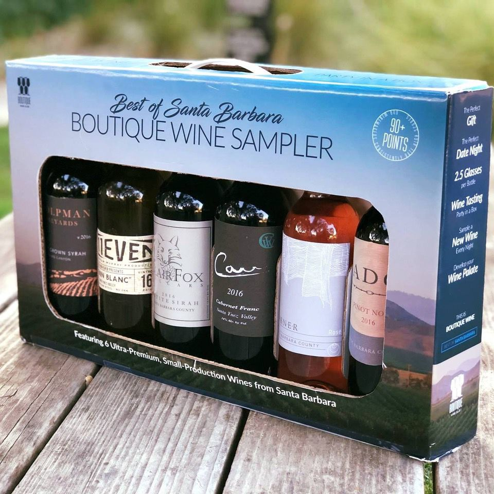The Boutique Wine Box of Santa Barbara County wines is $49.99.