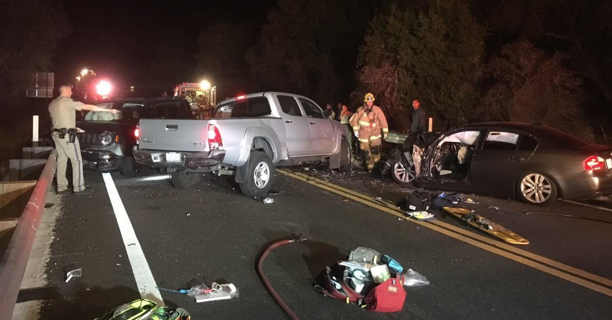 Highway 154 three-vehicle crash