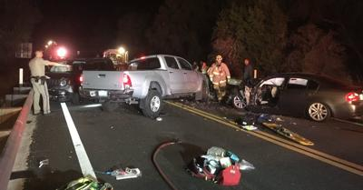 Highway 154 three-vehicle crash
