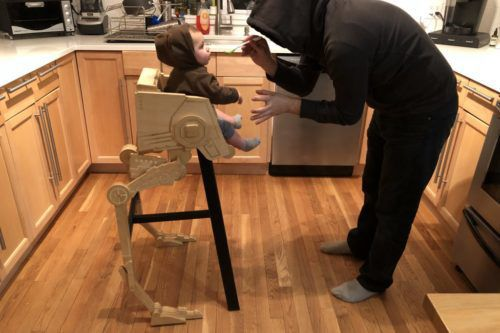 This Dad Built An Amazing 'Star Wars' High Chair For His Son