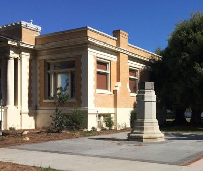 World War I Monument Plaza on grounds of Lompoc Museum