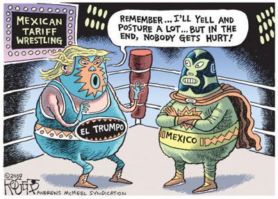 Cartoon: Wrestling with tariffs