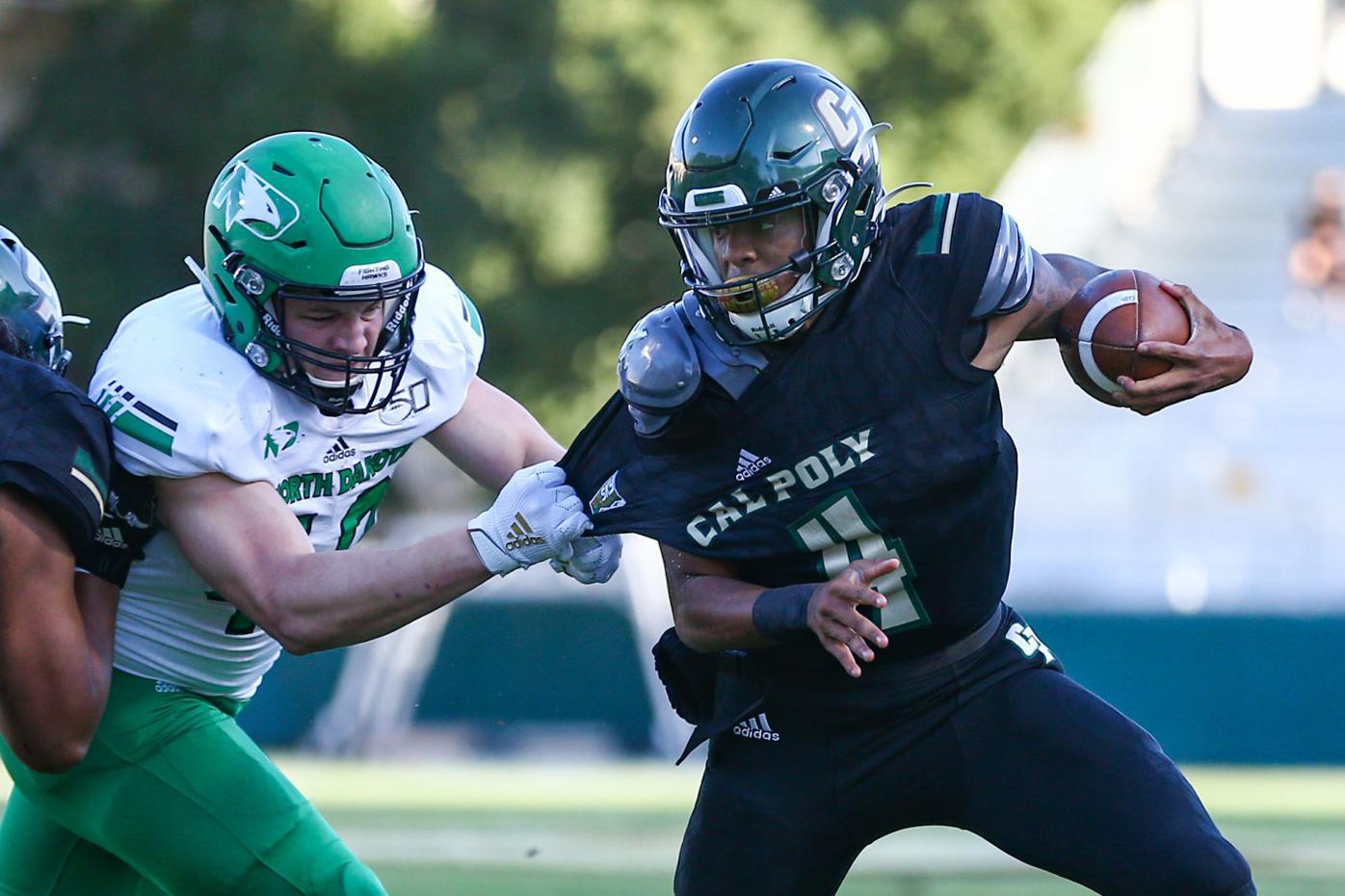 Photos: North Dakota edges Cal Poly 30-26 in Big Sky football Saturday night at Spanos Stadium