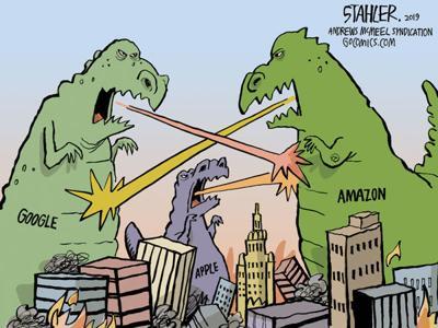 Cartoon: Tech monsters