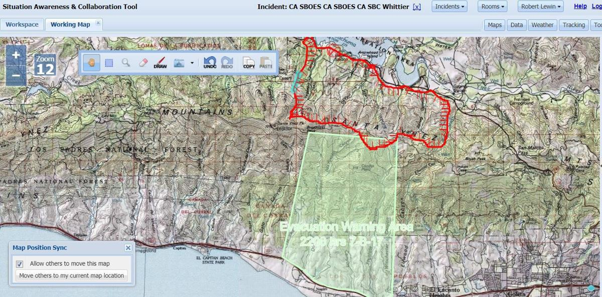 Whittier Fire Near Cachuma Lake Burns 10 823 Acres As Of Monday 5